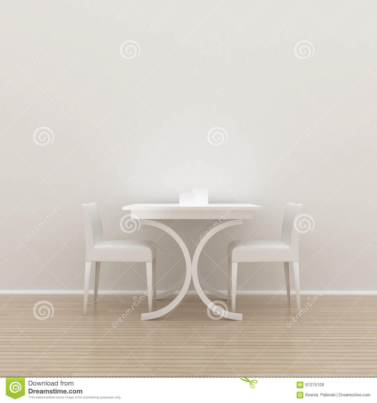 White Wall Interior Background Stock Illustration Image