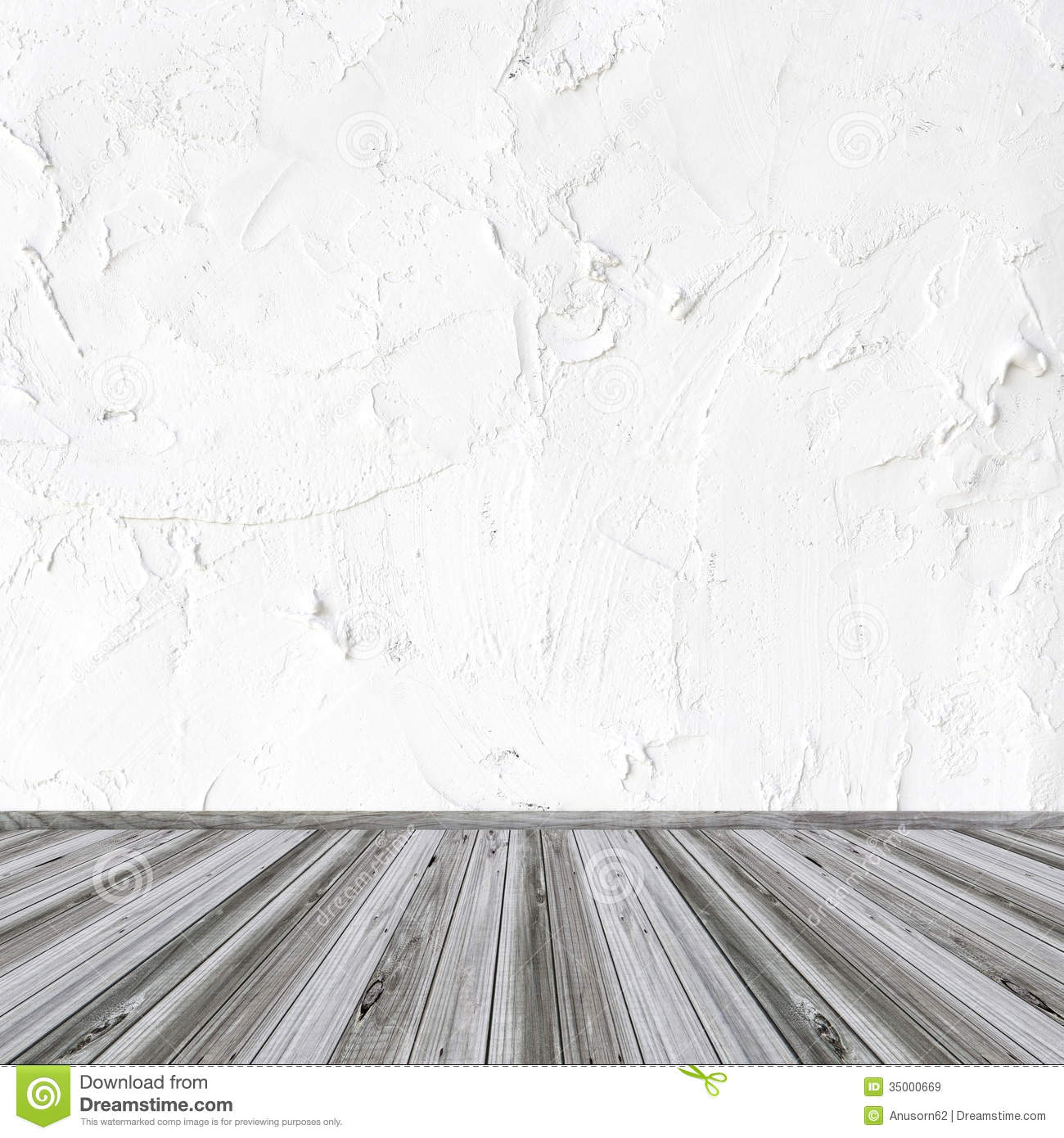 White wall and wood floor stock image image of design for Floor and wall