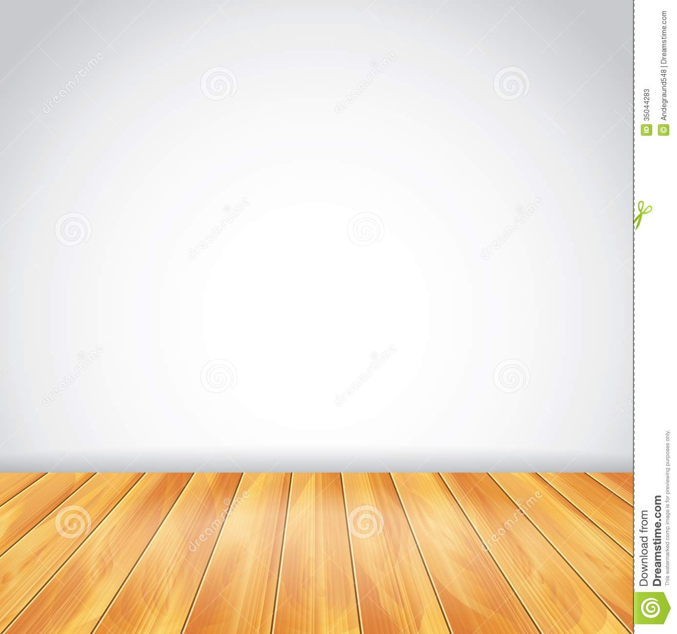 White Wall And Wood Floor Vector Background Stock