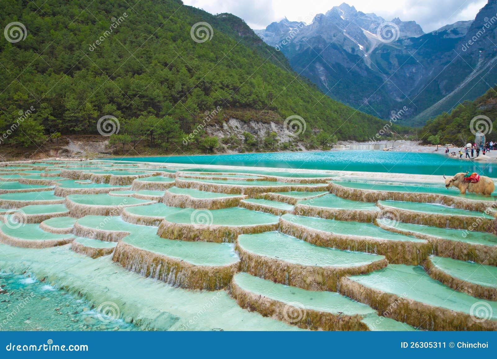Lijiang China  city photos : ... Water River Waterfall At Lijiang China Stock Image Image: 26305311