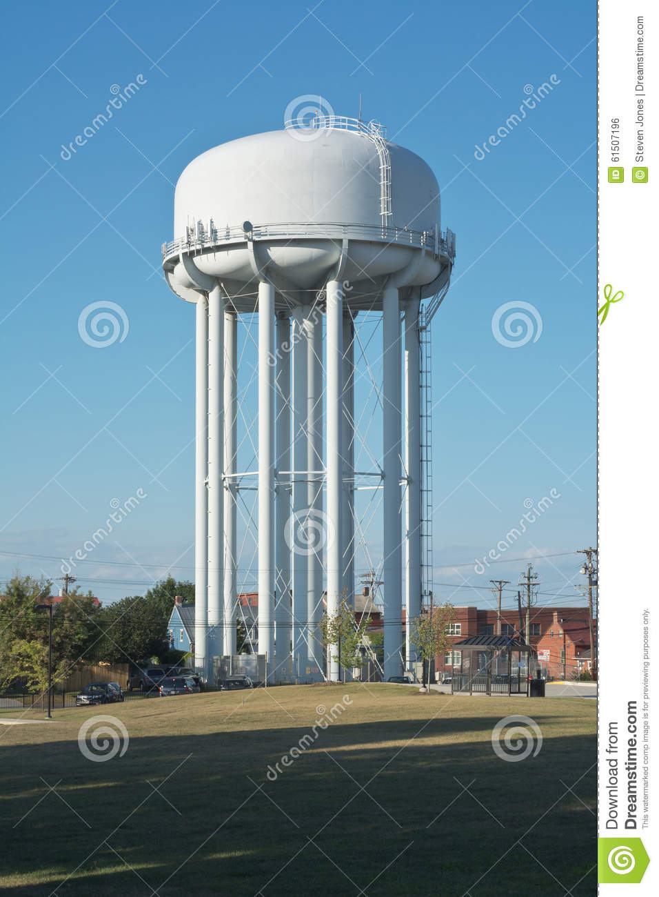 White Water Tower Stock Photo Image Of High City