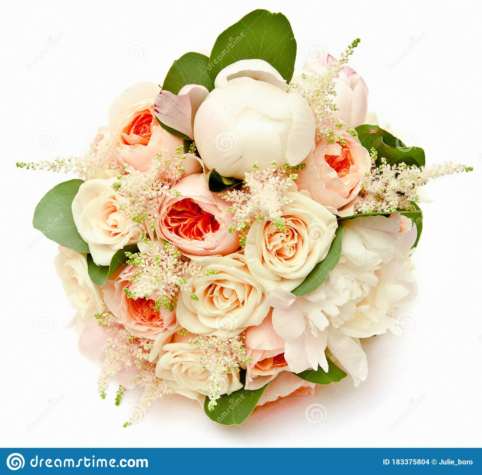 White Wedding Bouquet With Ranunculus Asiaticus And White Peony Stock Photo Image Of Beautiful Flower 183375804