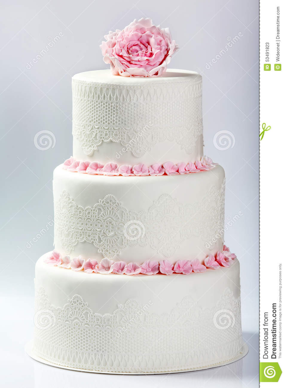 pink and white rose wedding cake white wedding cake with pink stock image image of 18557