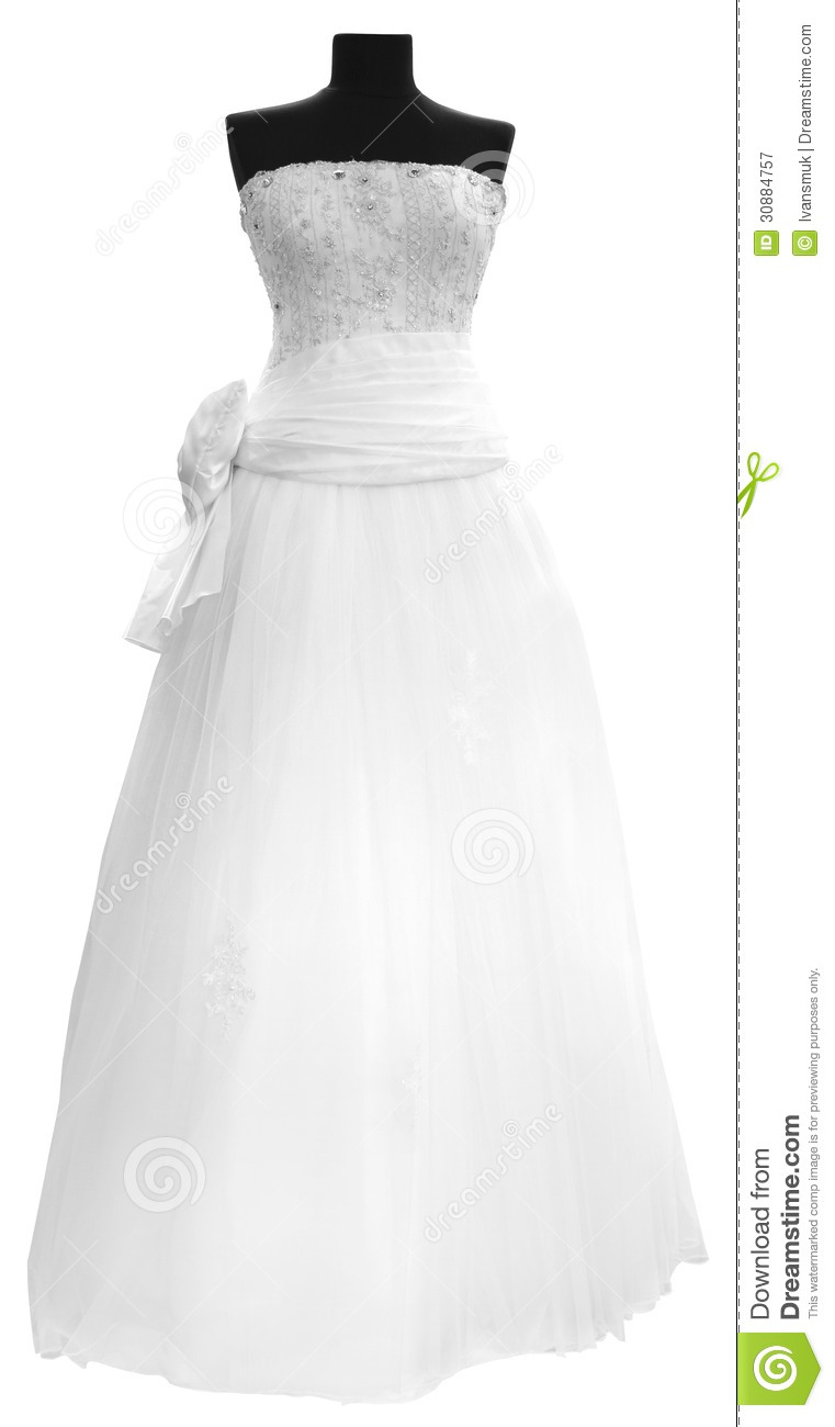 White Wedding Dress Royalty Free Stock Photography Image