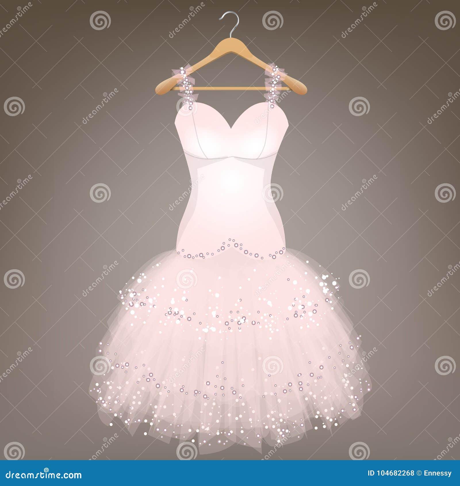 White Wedding Dress Hanger: White Wedding Dress Stock Vector. Illustration Of Hanger