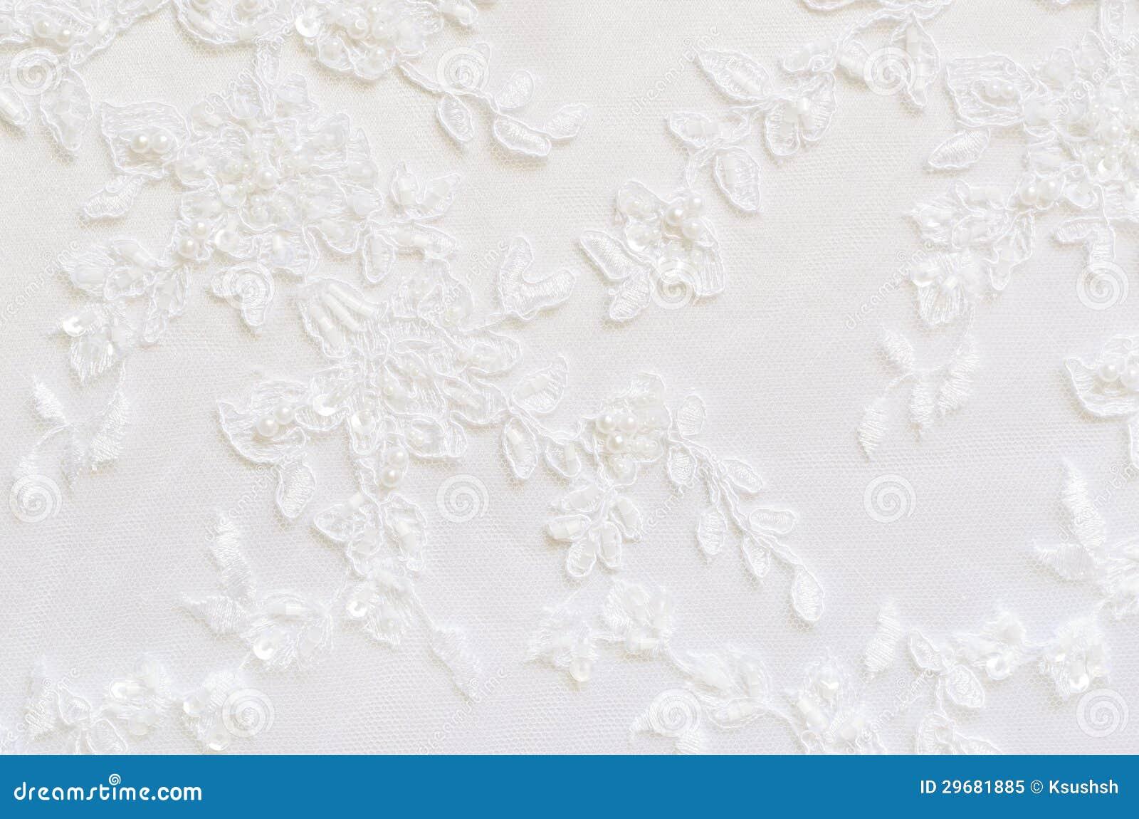 White wedding lace