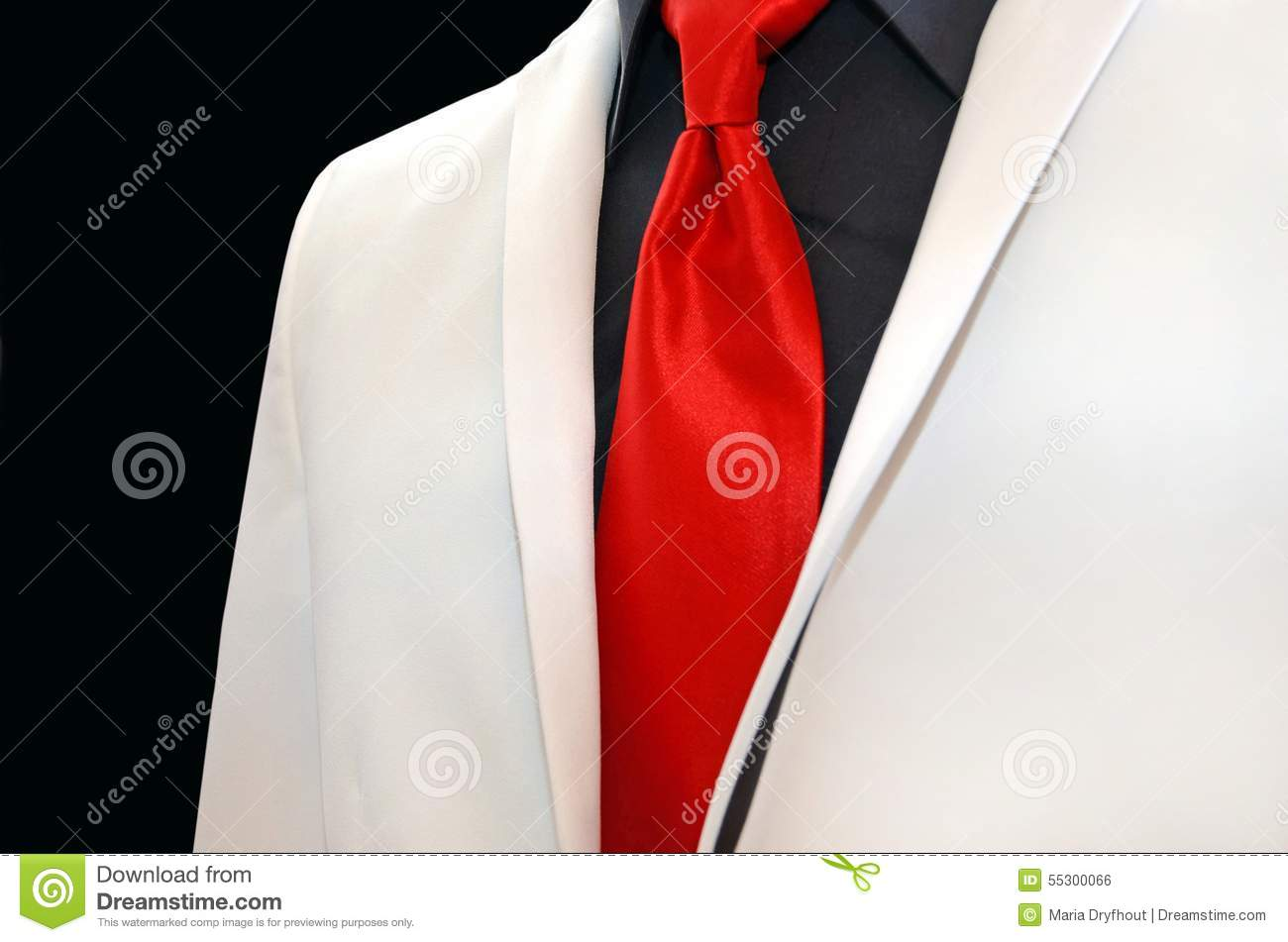 White Wedding Tuxedo With Red Tie Stock Photo Image Of Tuxedo