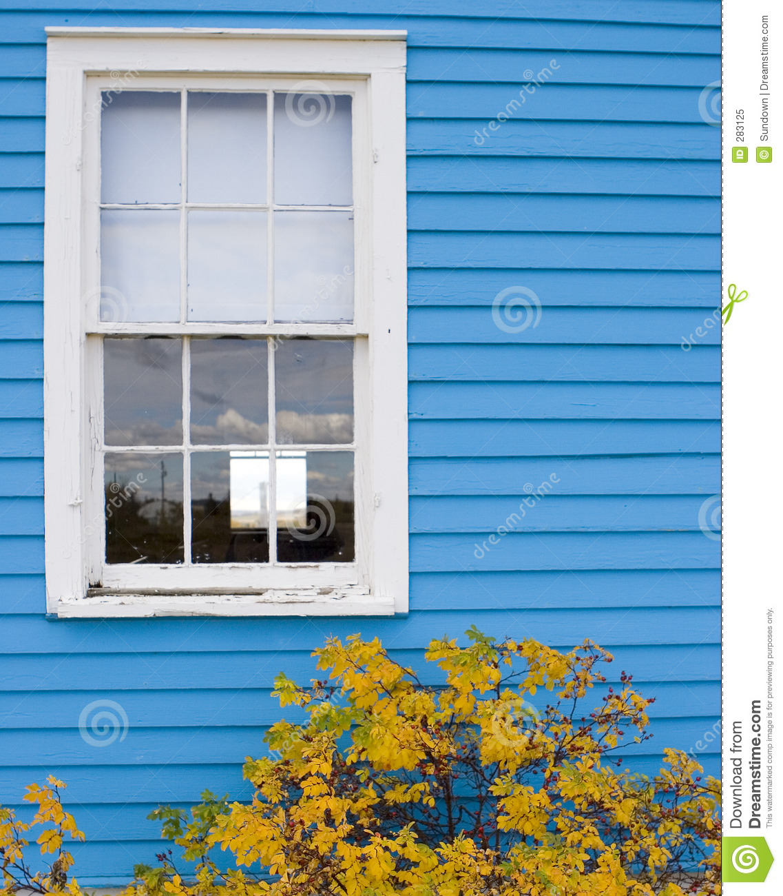 White window frame - Blue White Window