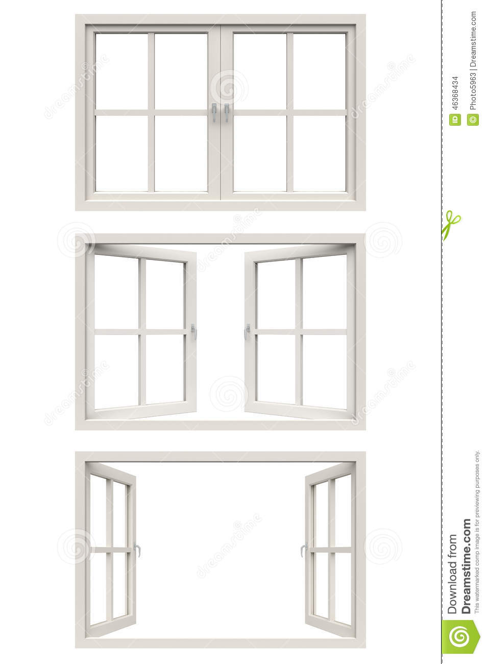 White window frame - Background Frame Isolated White Window