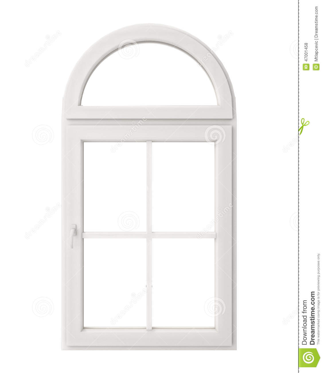 White window frame - White Window Frame Isolated On White Background