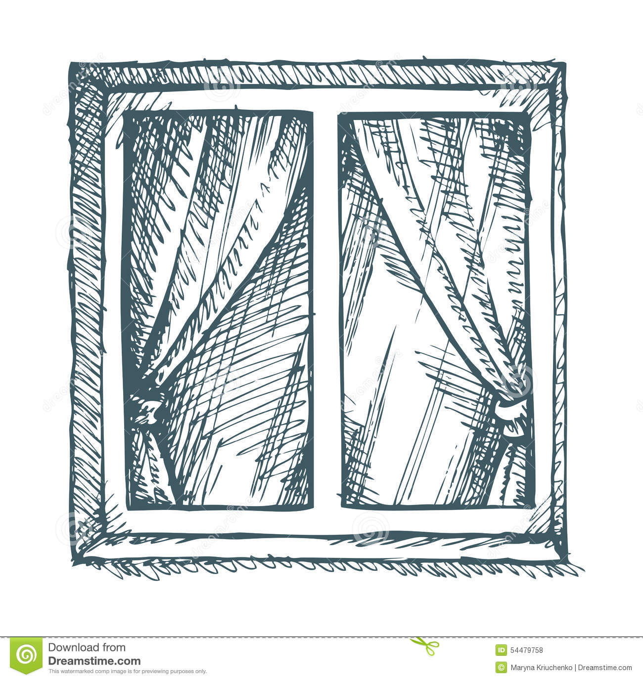 White Window Vector Sketch Stock Vector Image 54479758