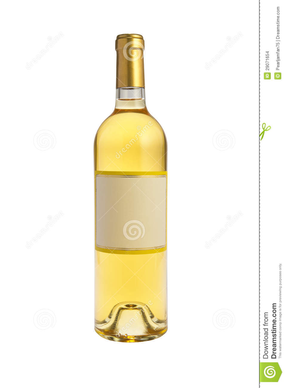 White Wine Bottle Stock Images - Image: 29071654