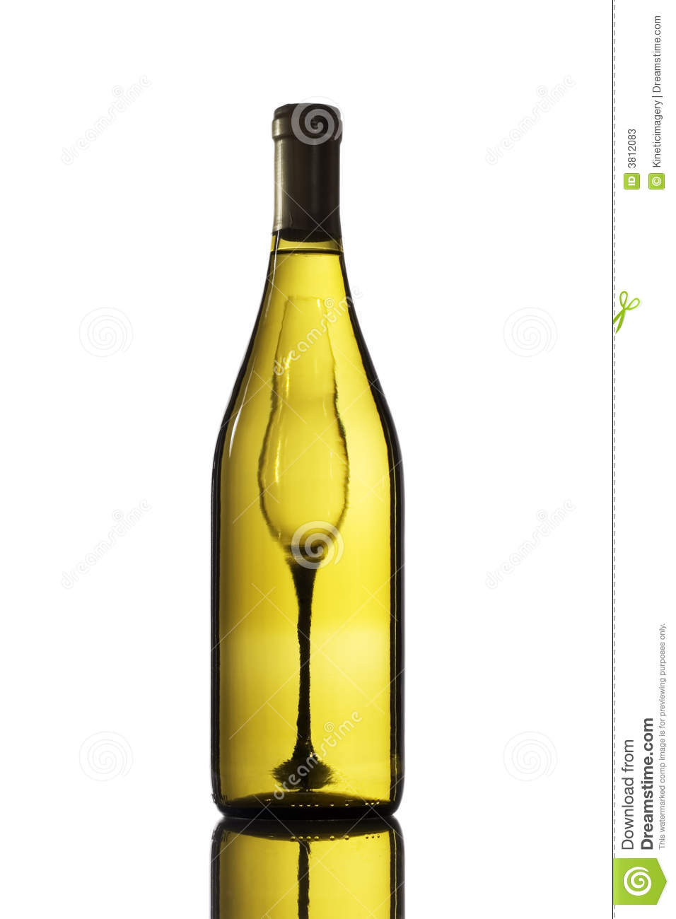 White wine bottle and glass stock photos image 3812083 for Wine bottle glass