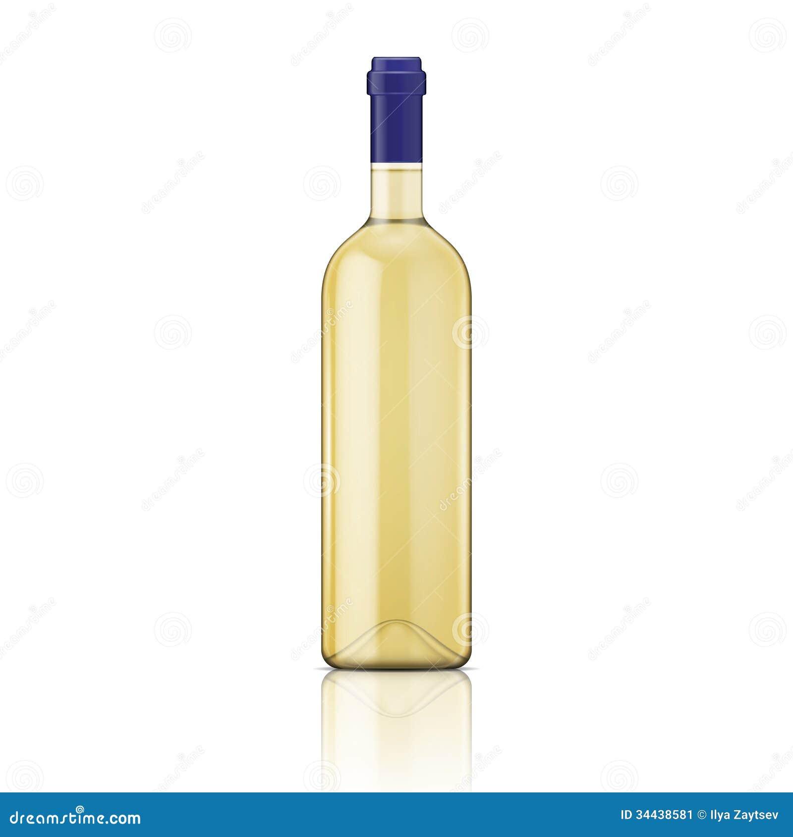White Wine Bottle. Stock Image - Image: 34438581