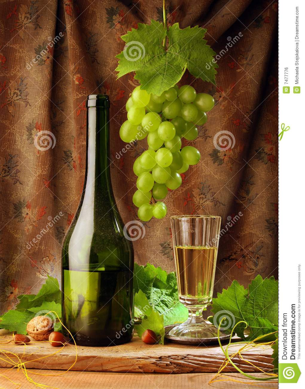 White wine with drapery