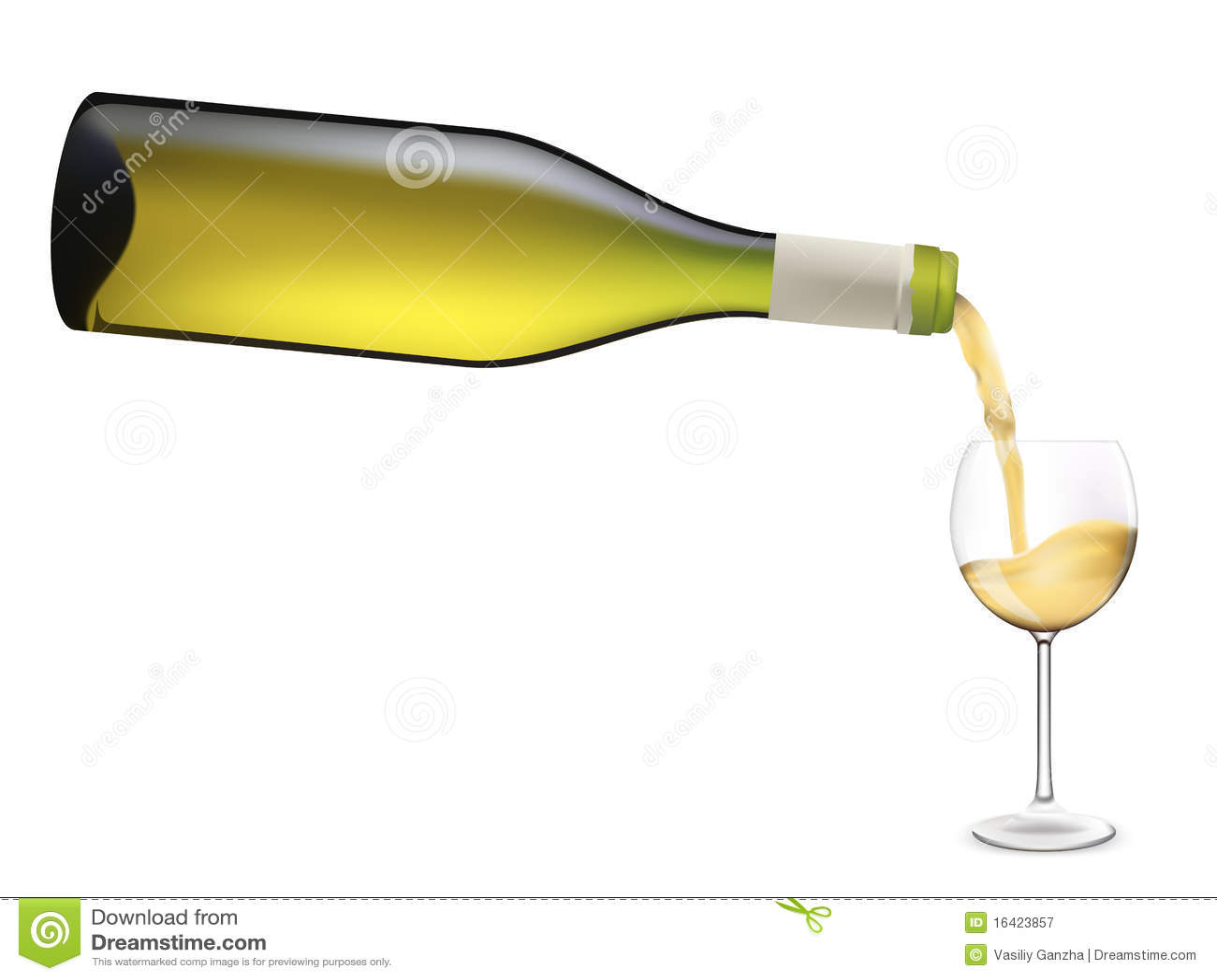 White Wine Pouring Into Wine Glass. Stock Vector ... Pouring Wine Into A Glass Clip Art