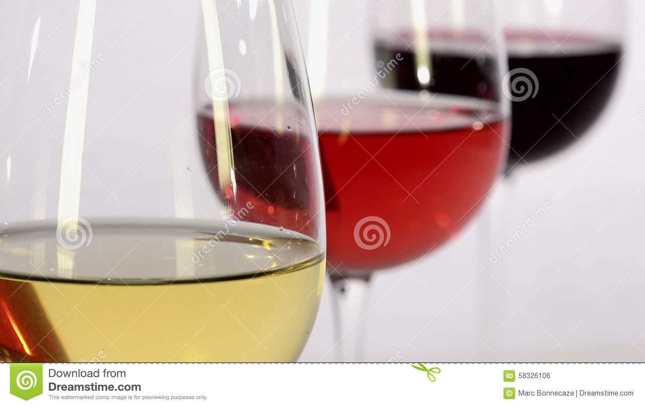 White Wine  Rose Wine And Red White And Red Wine