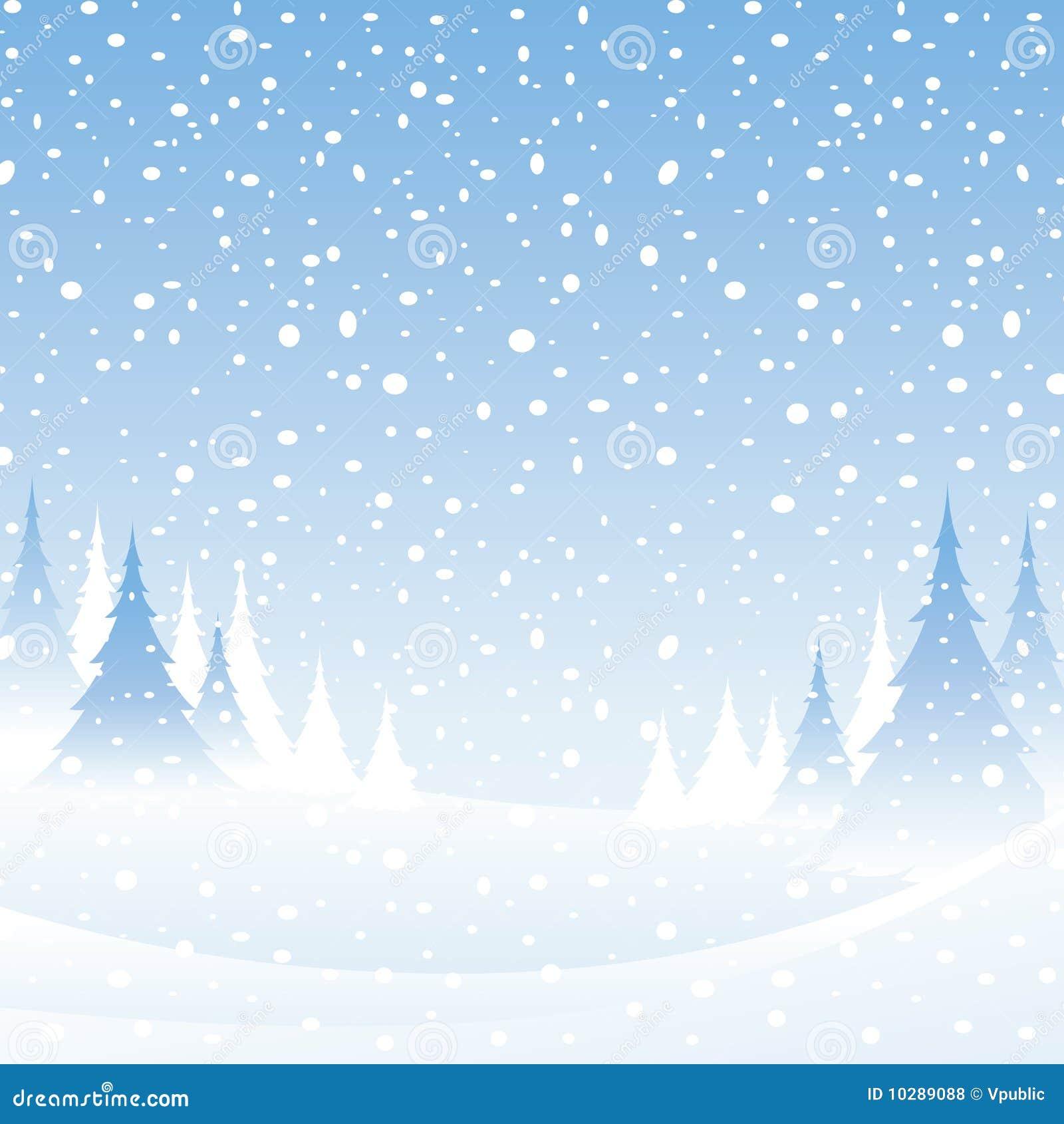 White Winter Scene Royalty Free Stock Photos - Image: 10289088