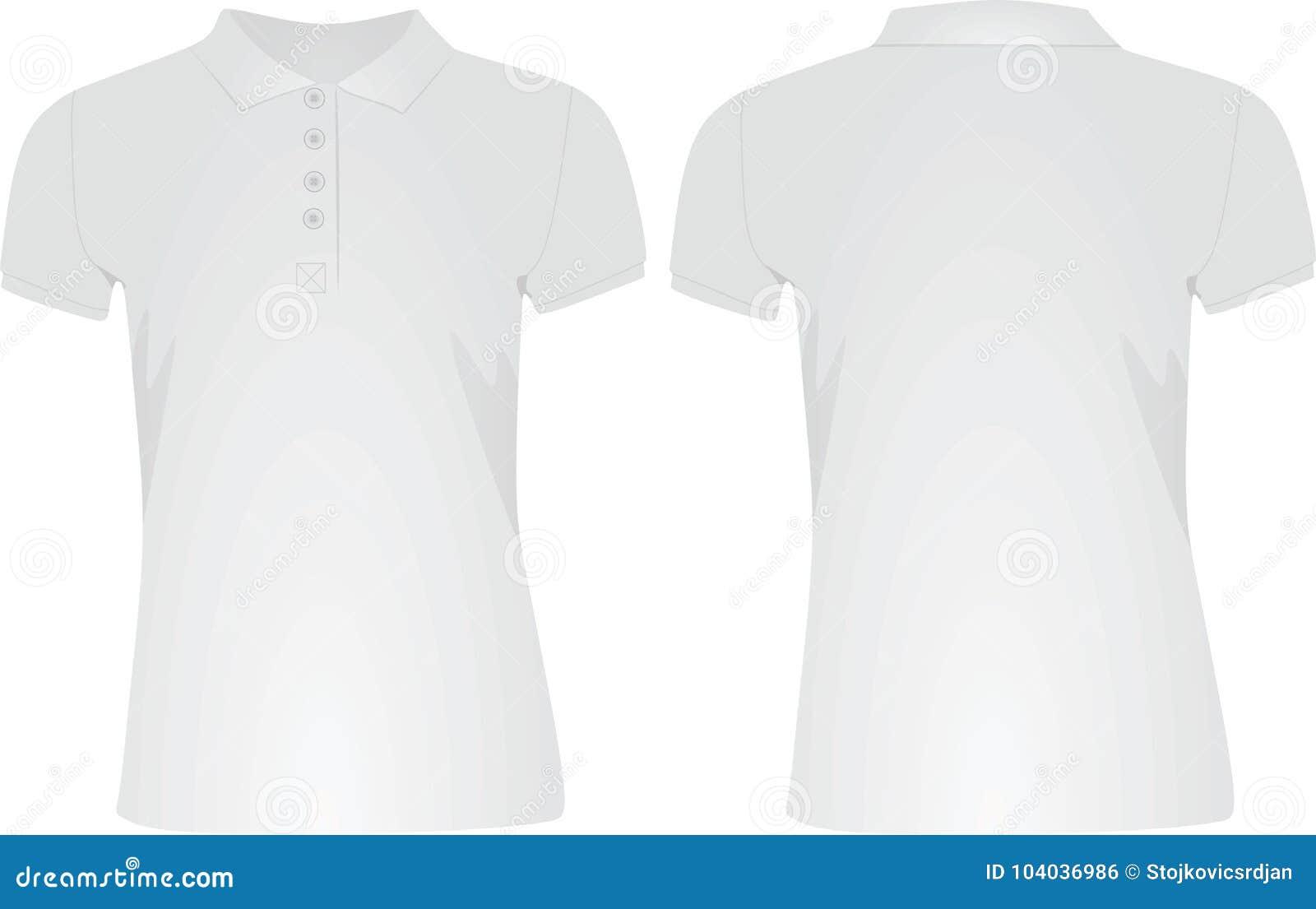 White women polo t shirt stock vector. Illustration of ...