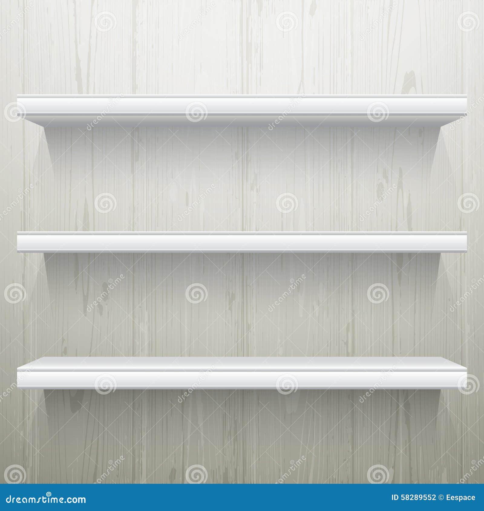 White Wood Shelves : White Wood Background Shelves Stock Vector - Image: 58289552