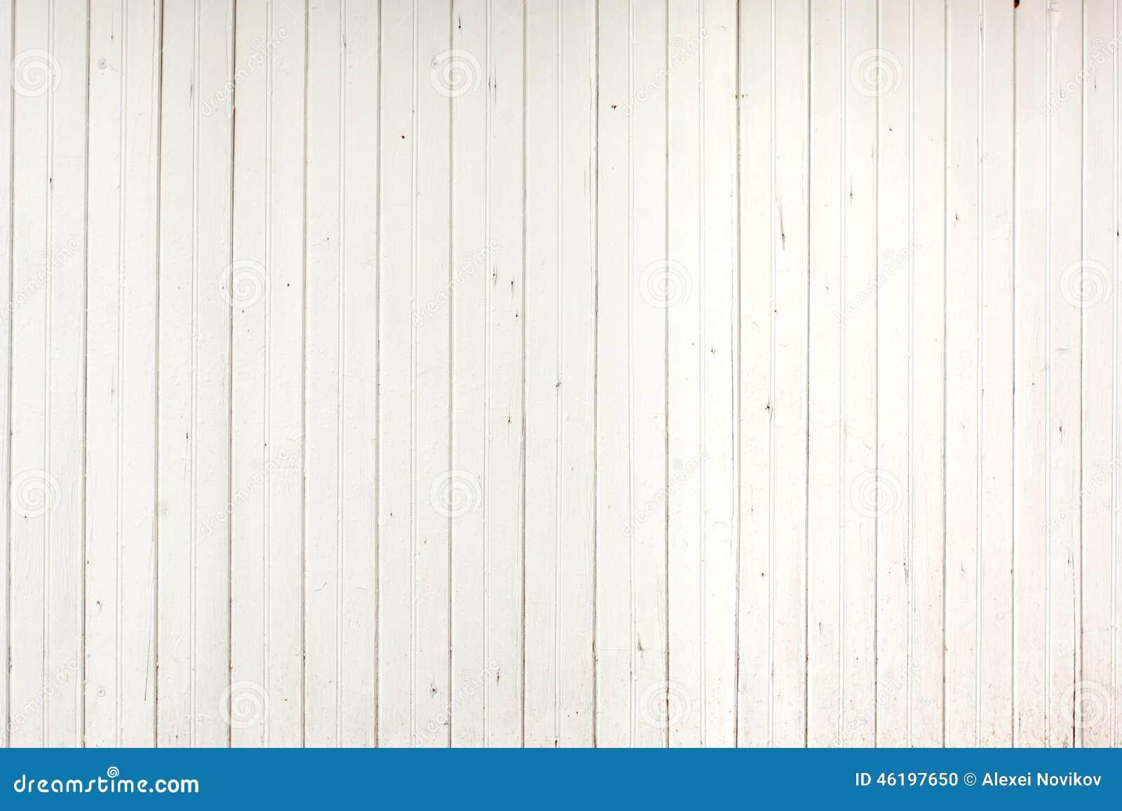 White Wood Planks Panel Stock Photo Image 46197650