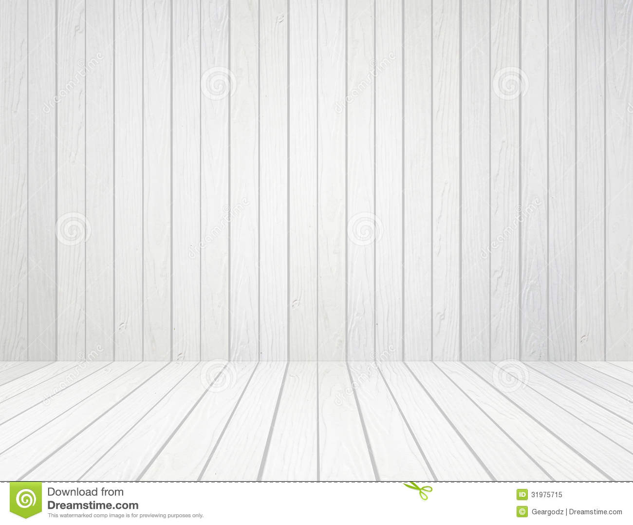 White Wood Wall And Wood Floor Background Stock Image