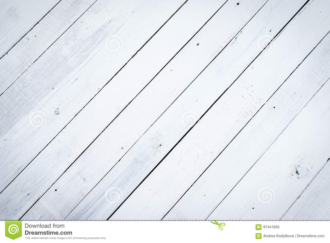 White wooden background, obsolote painted wood texture