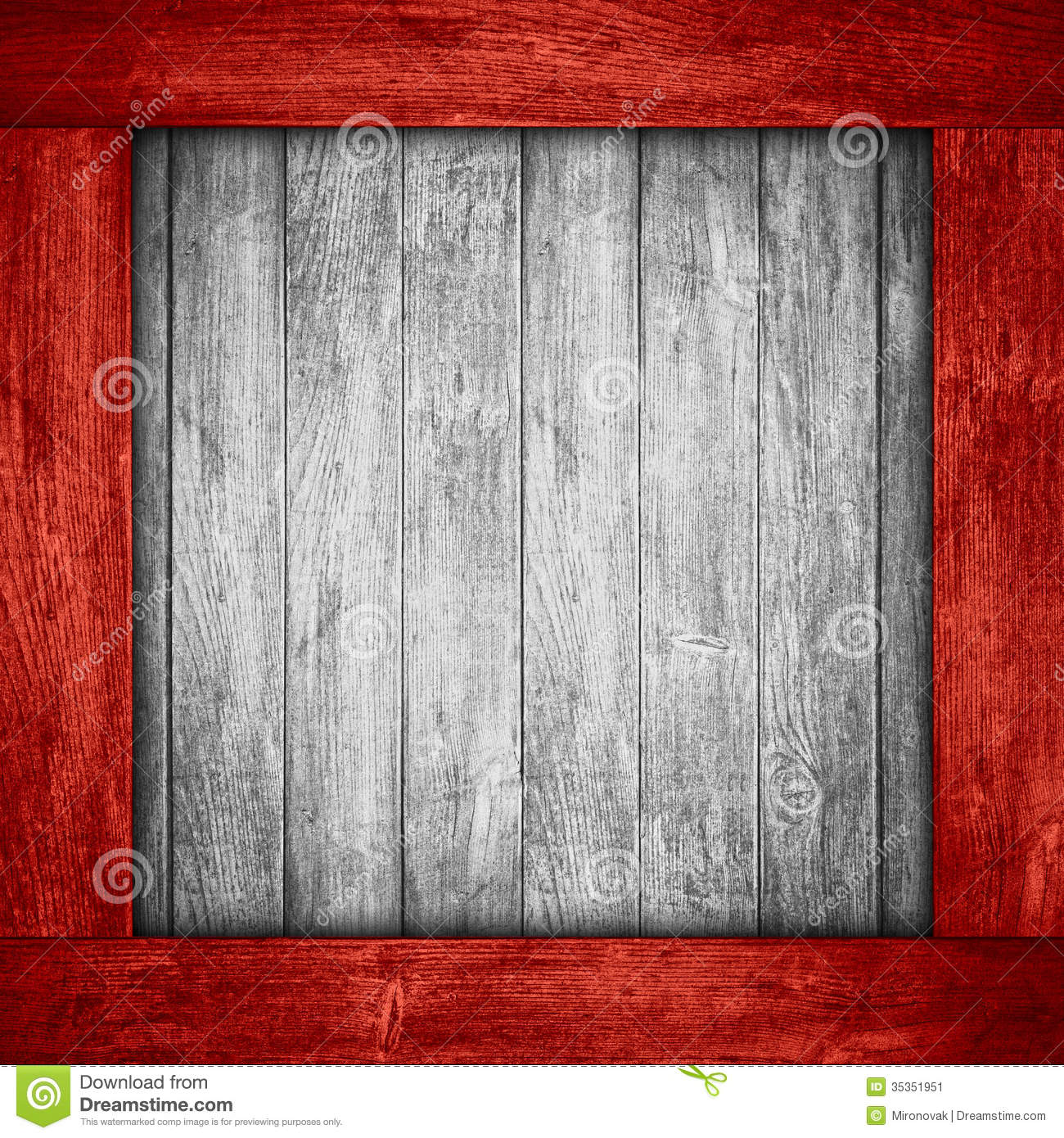 Wood Frame Texture : White wooden background in red wood frame or grey planks texture.