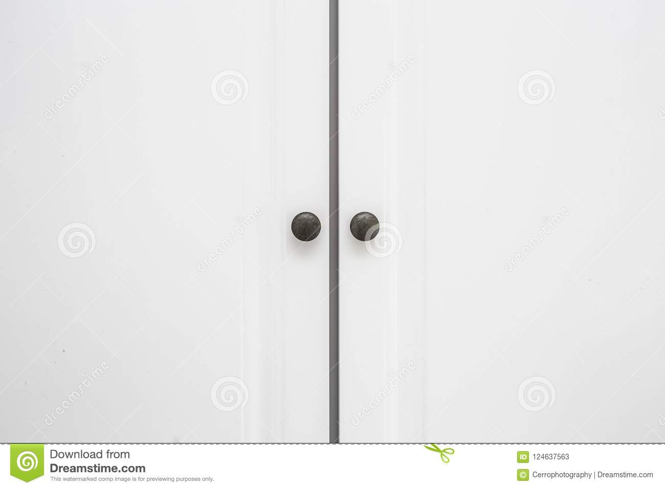 Download White Wooden Closet Doors Close Up Background Texture Stock Image    Image Of Cabinet,