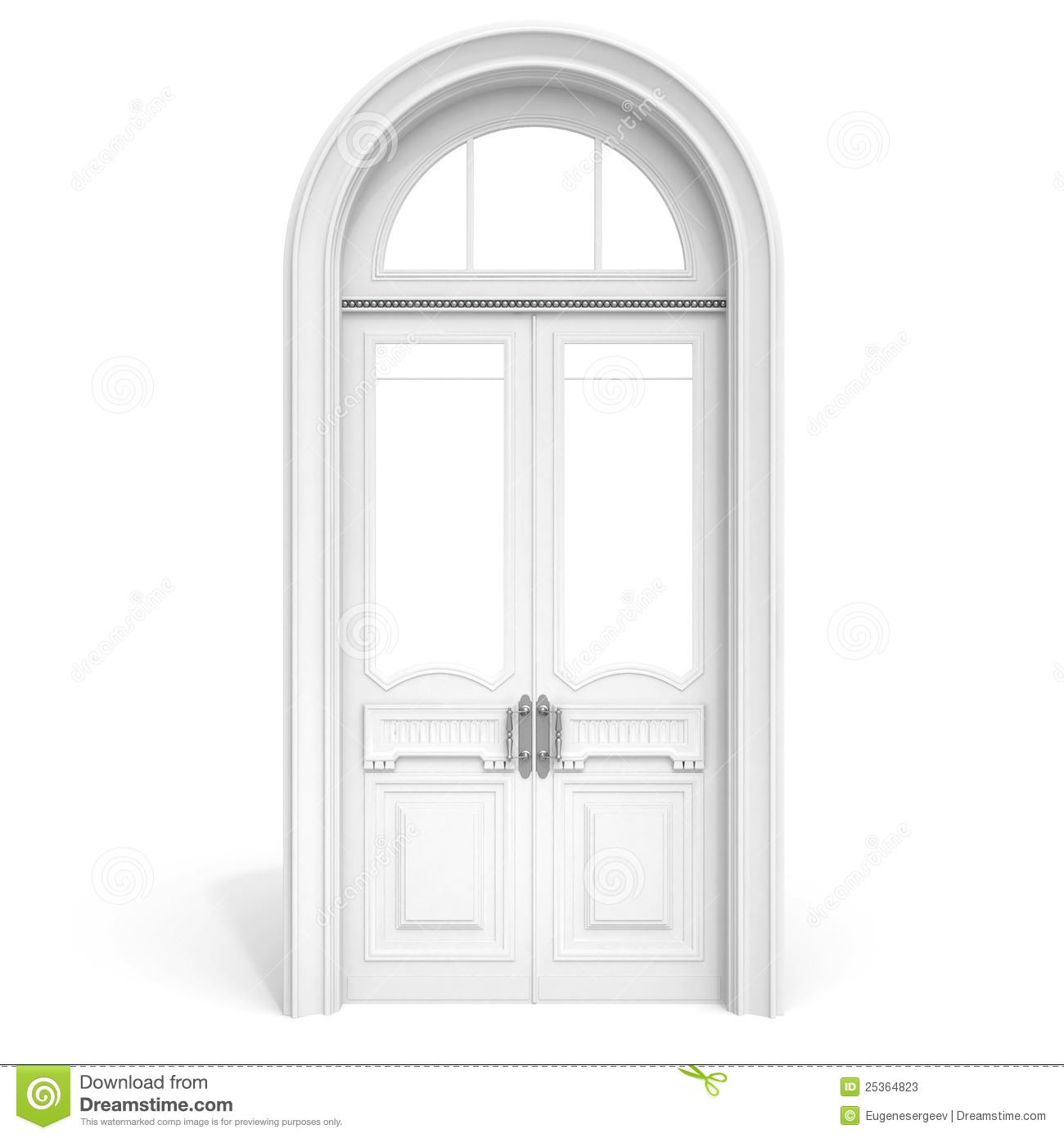 White Wooden Door Soft Shadow Stock Photos Image 25364823