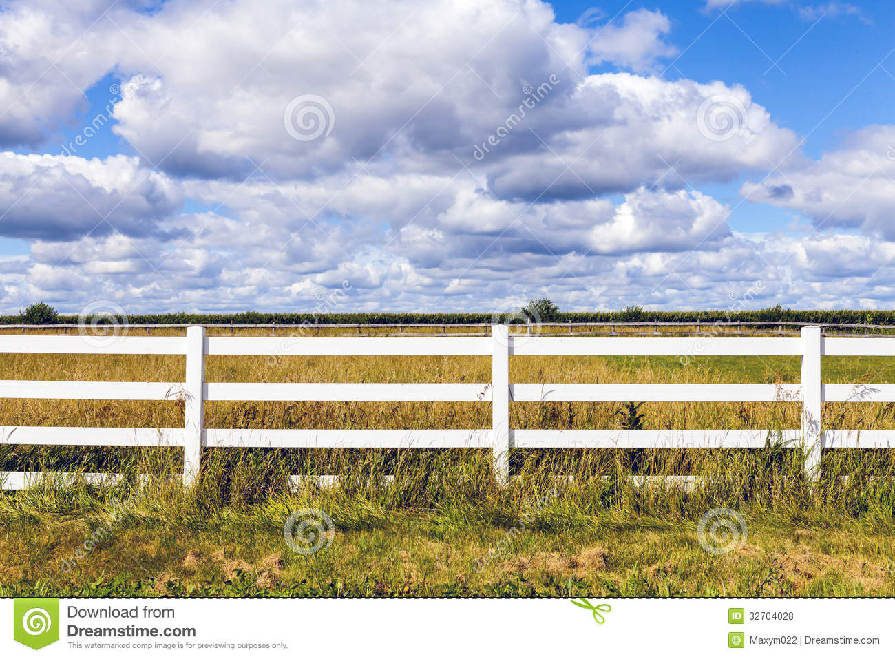 White Wooden Fence Roy...