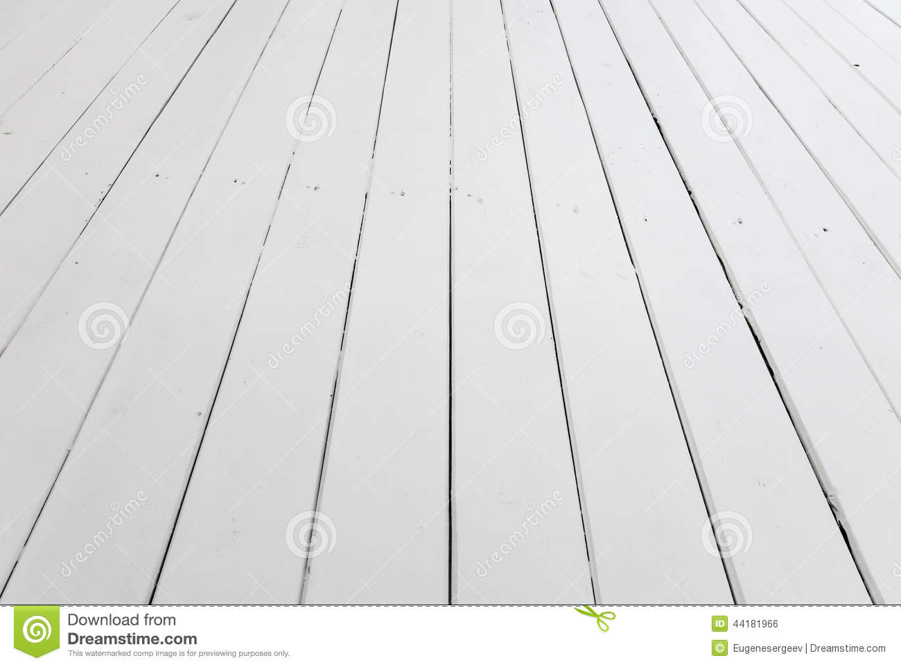 White Wooden Floor Background Perspective Stock Photo