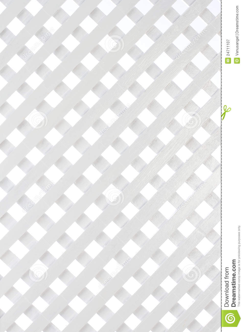 White Wooden Lattice Background Royalty Free Stock