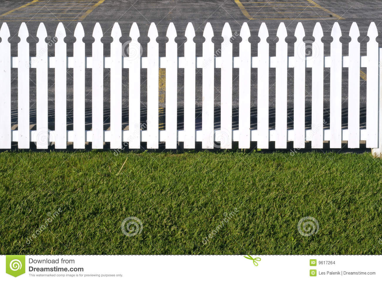 White Wooden Picket Fence Stock Images - Image: 9617264