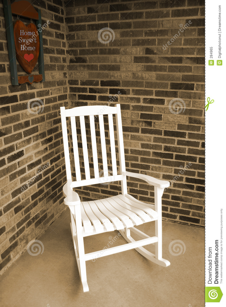 White Wooden Rocking Chair Stock Image Image Of Sweet