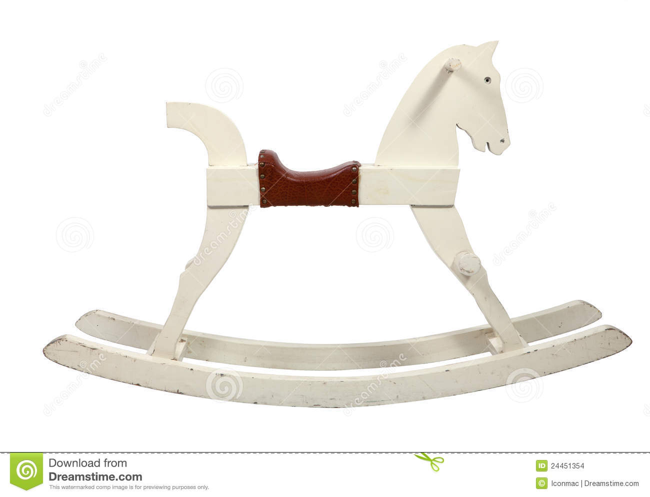 White Wooden Rocking Horse Chair Children Stock Images ...
