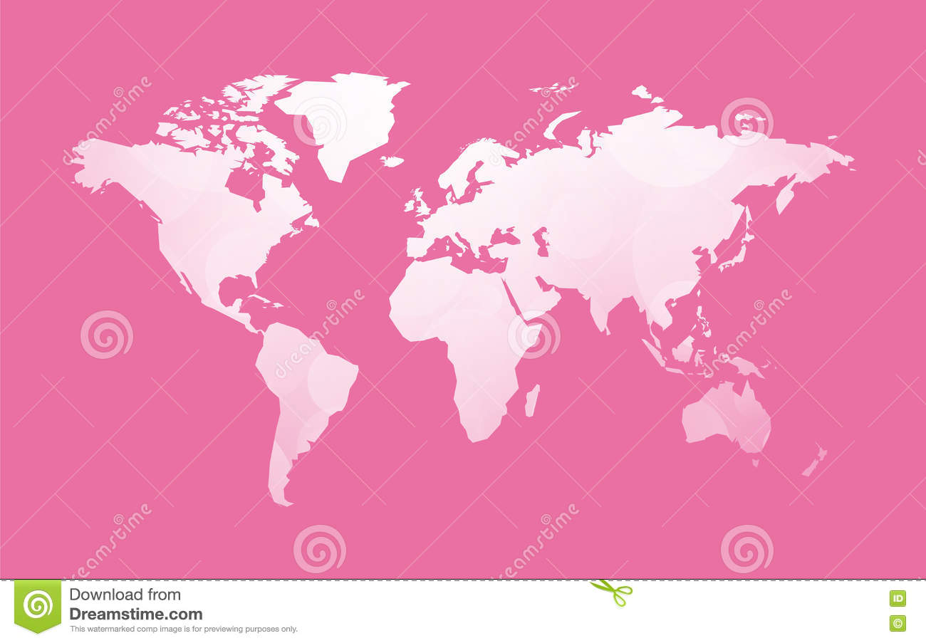 White world map on pink stock vector illustration of earth 77237446 download comp gumiabroncs Images