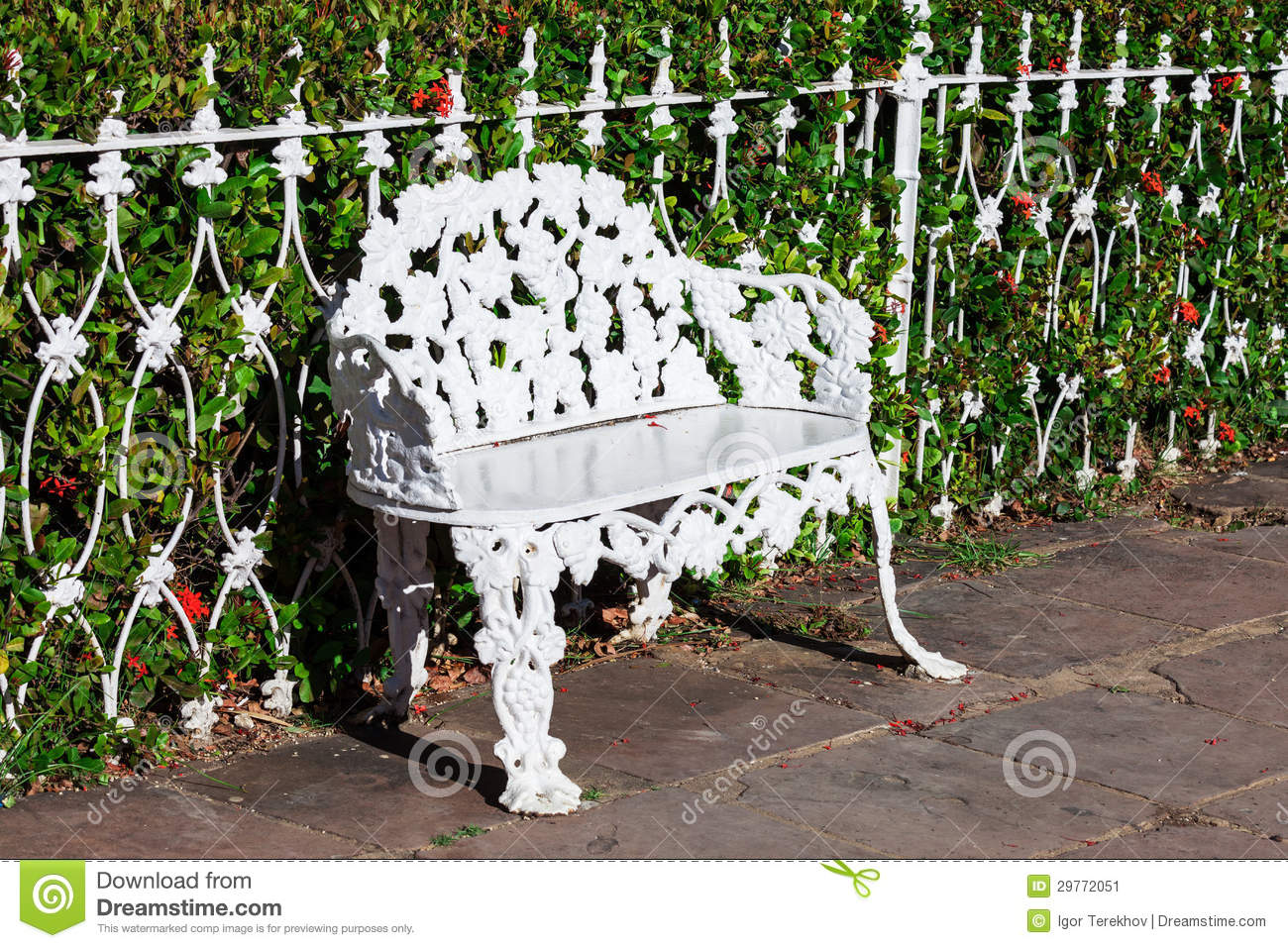 Wrought Iron Park Bench Seat