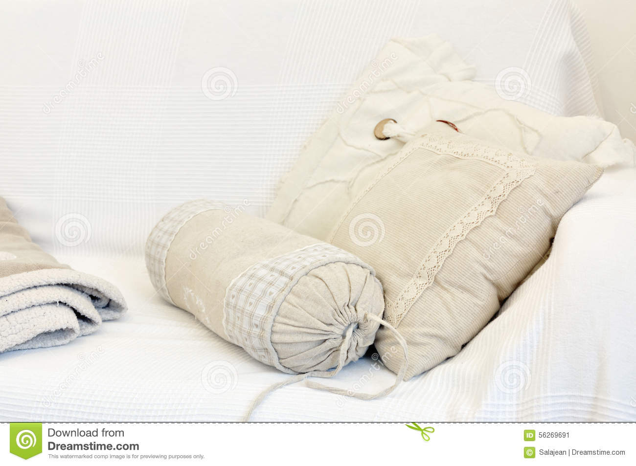 White and yellow pillow on bed stock image image of grey hotel 56269691 - Whiten yellowed pillows ...