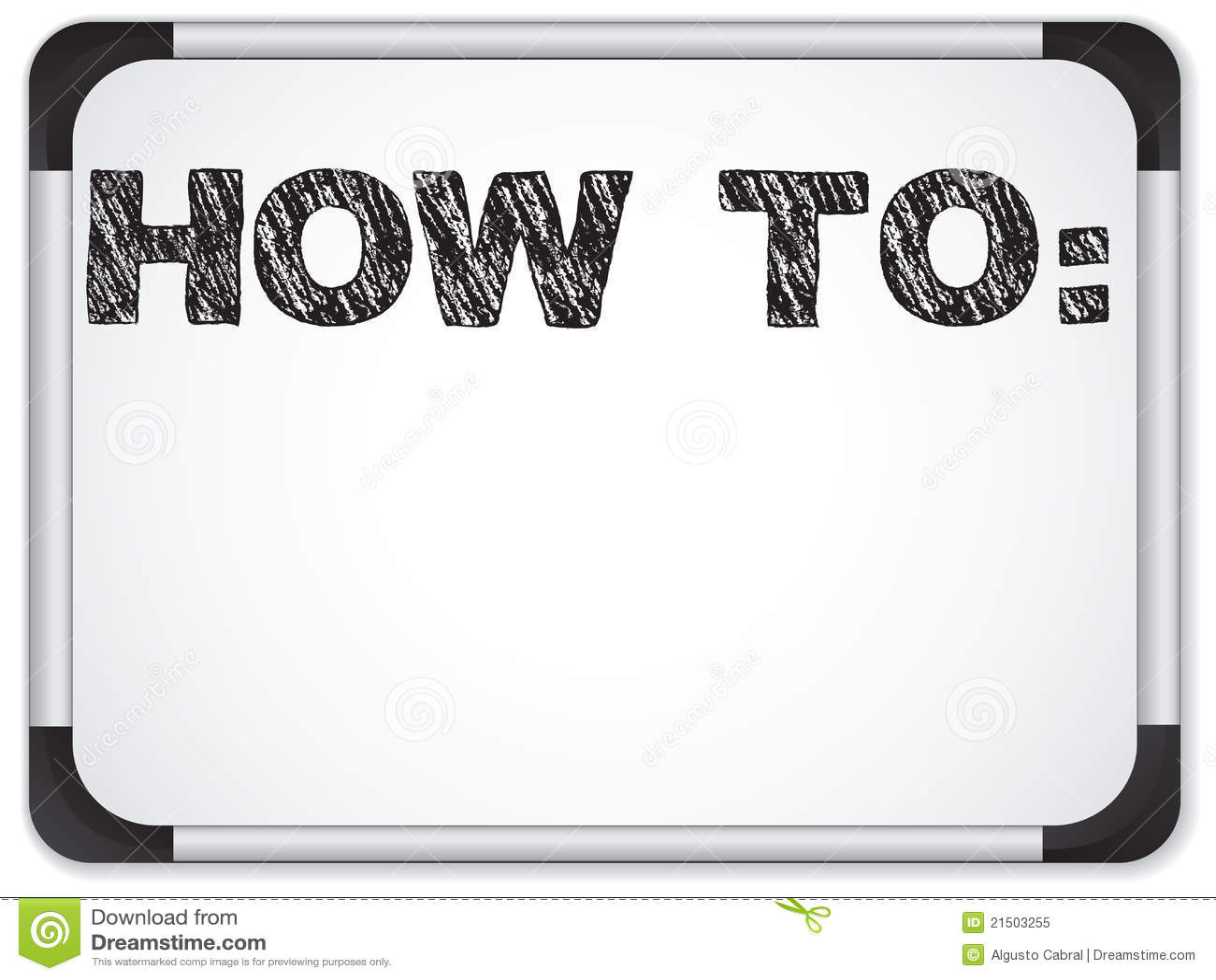Whiteboard con come al messaggio scritto con gesso