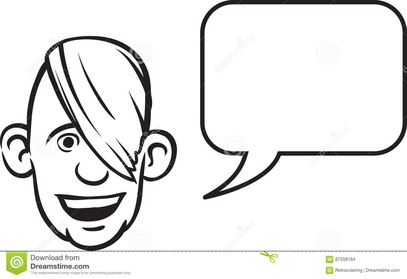 Line Drawing Cartoon Face : Black and white cartoon speech pictures to pin on