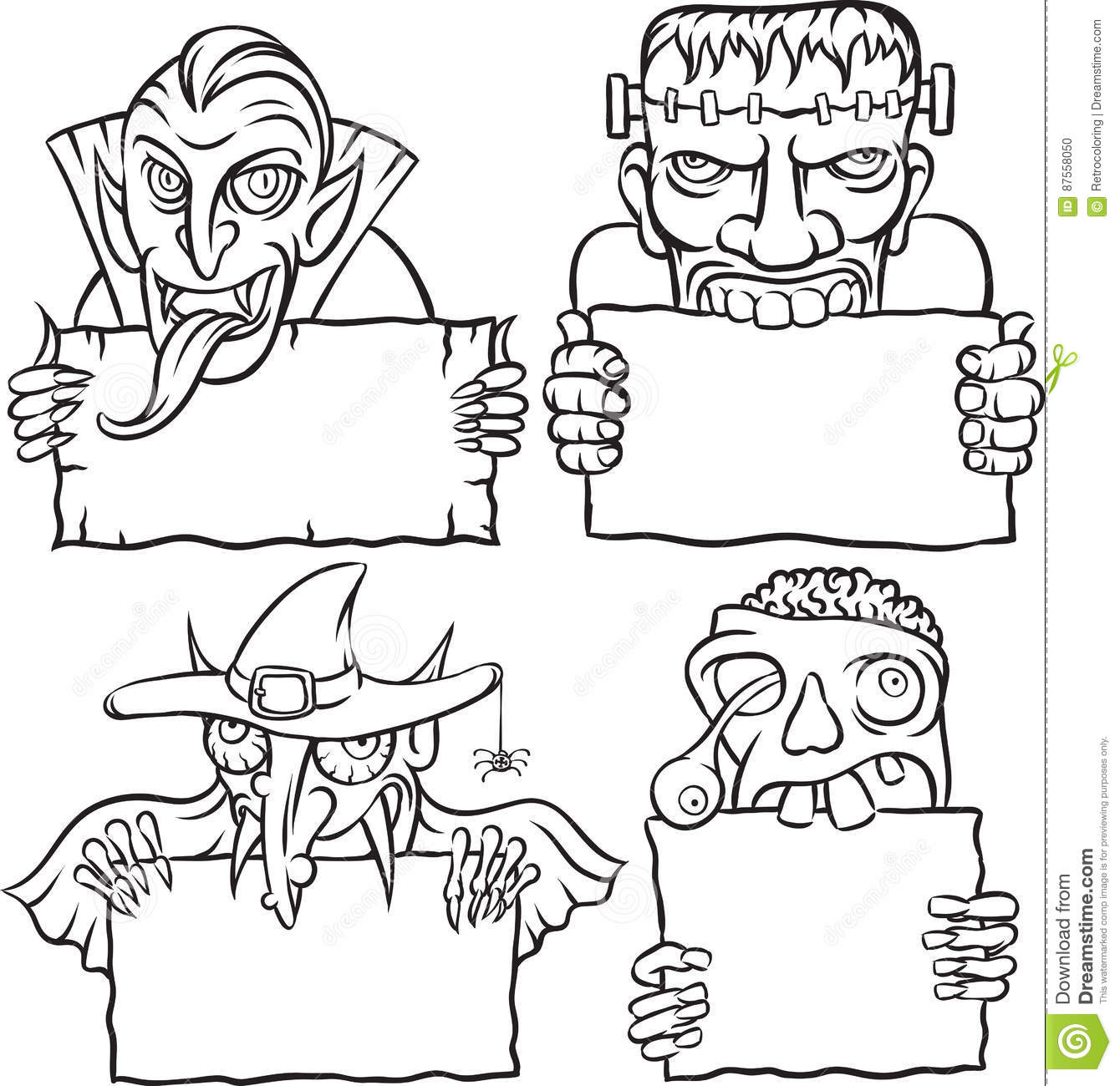 whiteboard drawing halloween monsters and vampires - Drawings Of Halloween Pictures