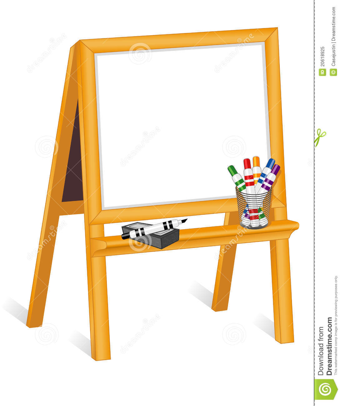 Whiteboard Easel With Markers Royalty Free Stock Photo Image