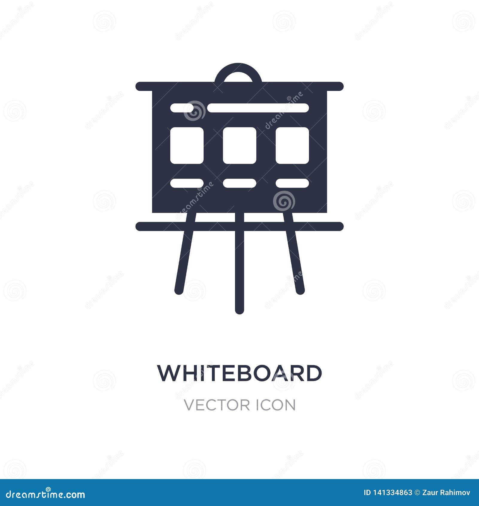 Whiteboard ikona na białym tle Prosta element ilustracja od wyszukiwarki optymalizacji pojęcia