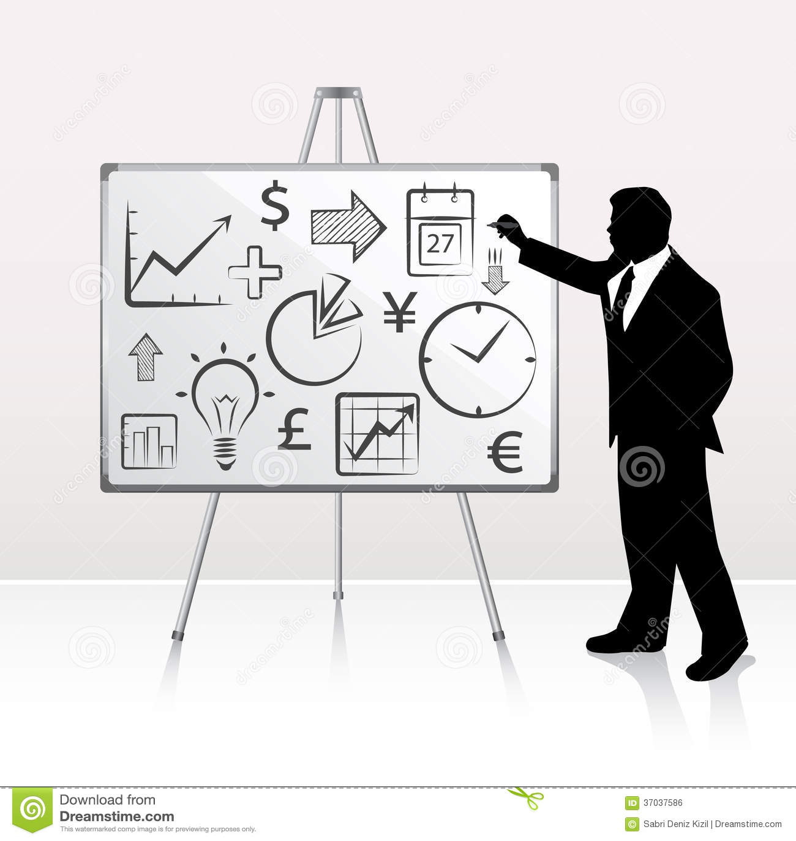 whiteboard presentation stock vector illustration of glowing 37037586