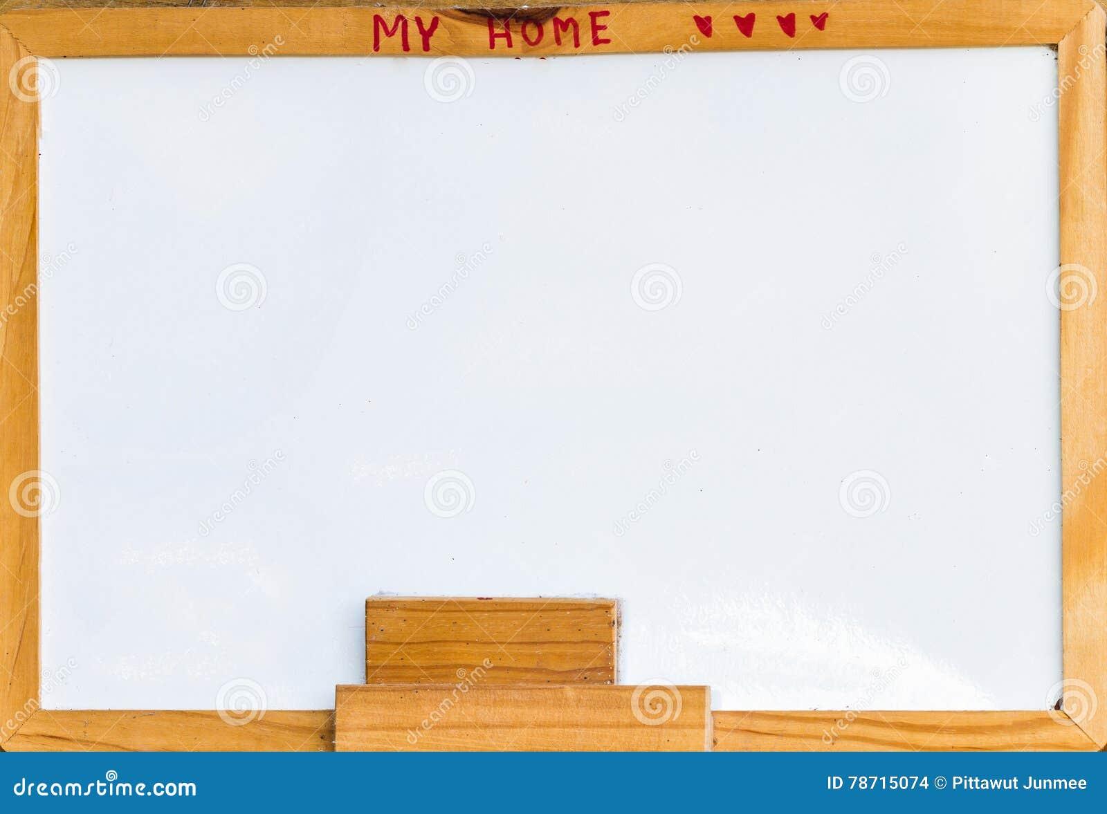 Whiteboard Radiergummi Und Freier Raum Whiteboard Brachten Am ...