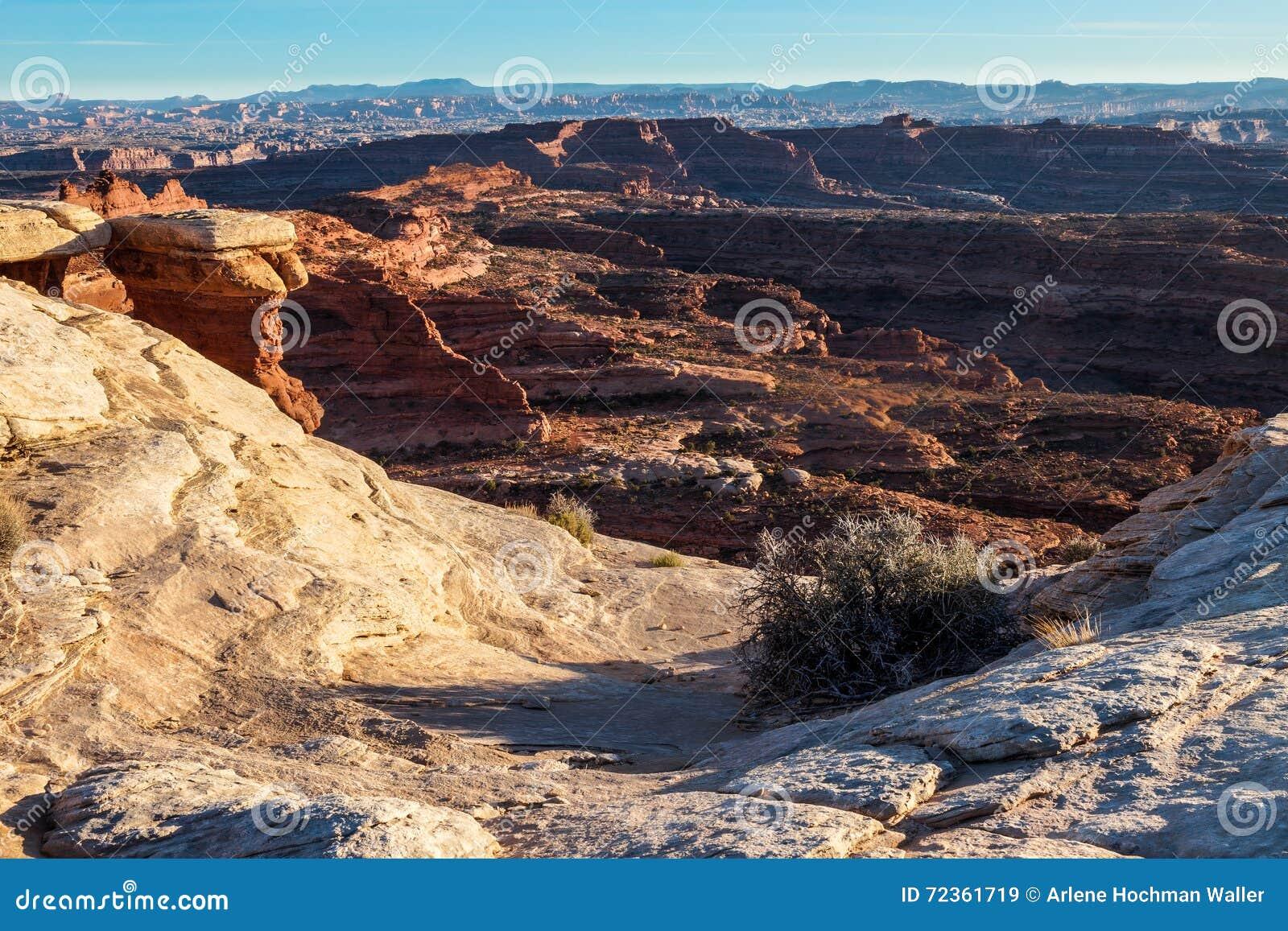 Whitecrack地区白色外缘路Canyonlands天空的犹他全国珀丽湾