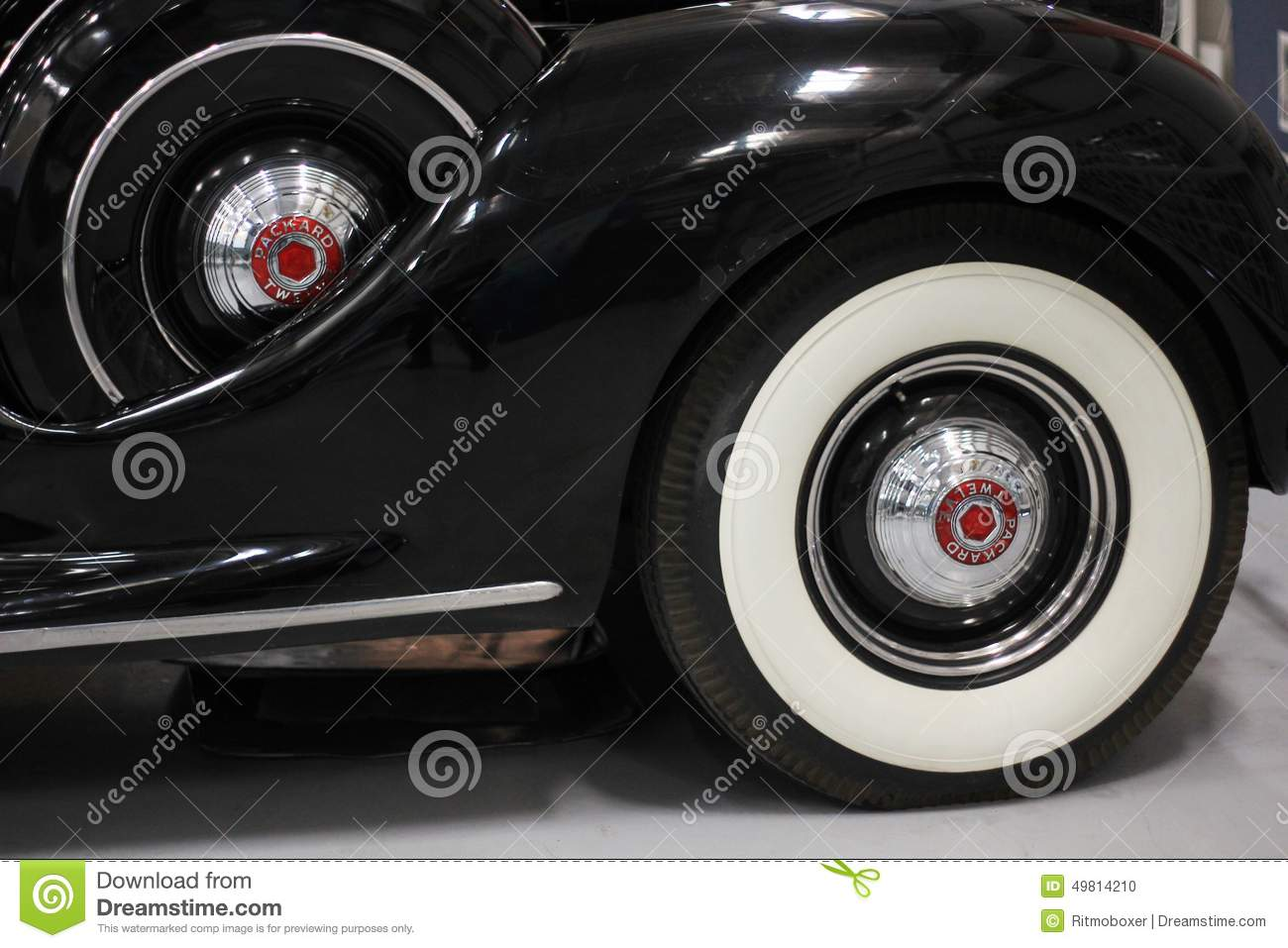 Whitewall Tire On A 1939 Packard Editorial Image Image