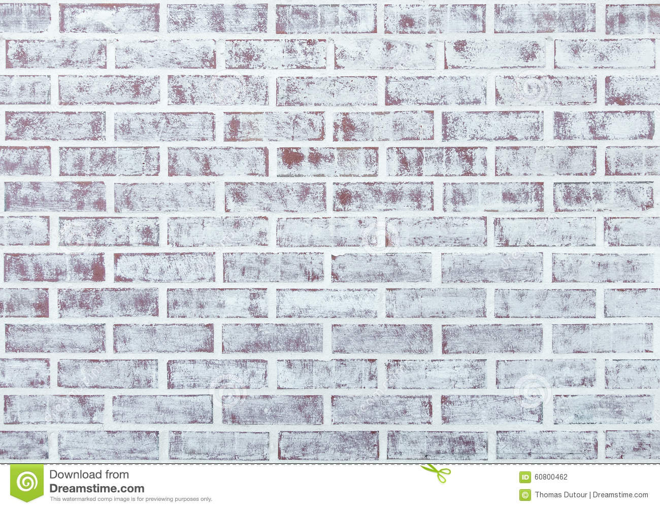 Whitewashed Brick Wall Stock Photo - Image: 60800462