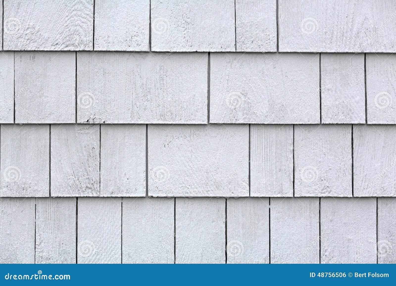 Whitewashed Cedar Shingles Stock Photo Image 48756506